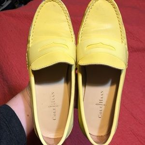 Cole Haan yellow loafers size 5